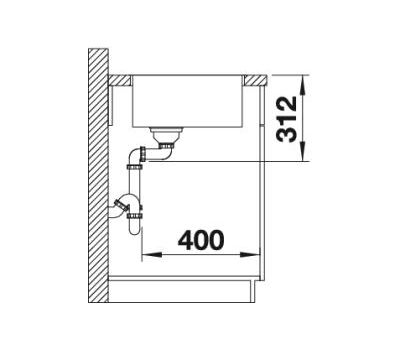 Мойка BLANCO SUBLINE 500-IF SteelFrame (антрацит)  арт. 524107