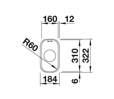 Мойка BLANCO SUPRA 160-U (с корзинчатым вентилем и коландером)