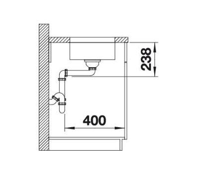 Мойка BLANCO SUPRA 180-U (с корзинчатым вентилем и коландером) 518198
