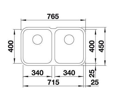 Мойка BLANCO SUPRA 340/340-U (с клапаном-автоматом)