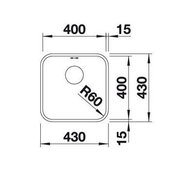 Мойка BLANCO SUPRA 400-U (с клапаном-автоматом) 518202  арт. 518202