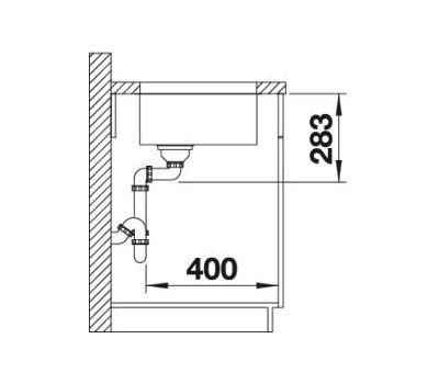 Мойка BLANCO SUPRA 400-U (с корзинчатым вентилем) 518201