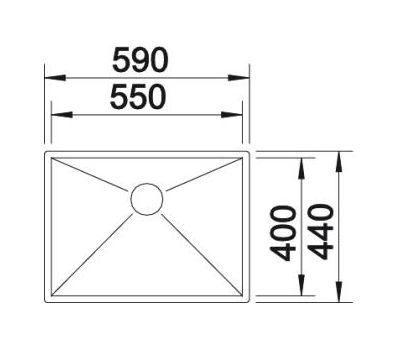Мойка BLANCO ZEROX 550-U