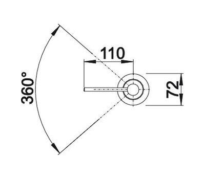 Дозатор BLANCO PIONA (хром) 517667