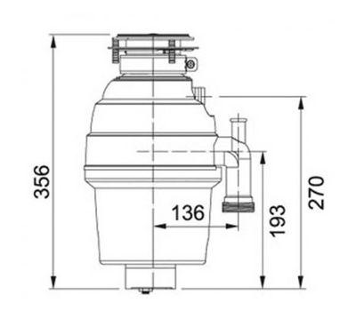 Измельчитель пищевых отходов FRANKE TP 50