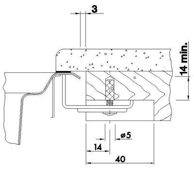 Специальный набор крепежа для установки моек из нержавеющей стали под ламинированную столешницу (4 крепежных элемента) 212331  арт. 212331