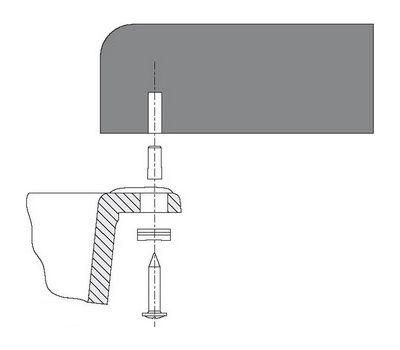 Специальный набор крепежа для установки моек чаш SUBLINE из материала SILGRANIT под цельную столешницу (4 крепежных элемента) 218268