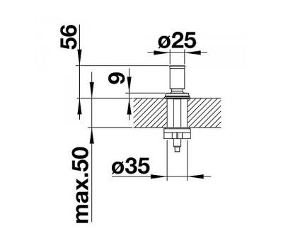 Ручка клапана-автомата BLANCO LIVIA (хром) 521294  арт. 521294