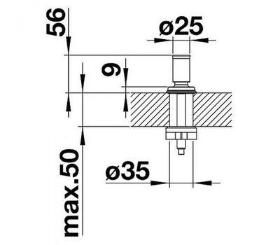 Ручка клапана-автомата BLANCO LIVIA (манган) 521296