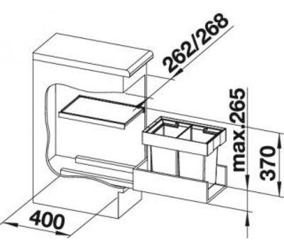 Выдвижная мусорная система Blanco FLEXON II 30/2 521467