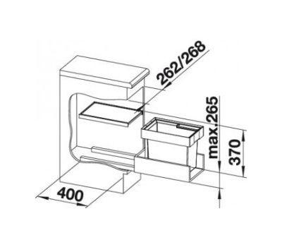 Выдвижная мусорная система Blanco FLEXON II 30/1 521542