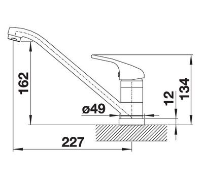 Смеситель BLANCO DARAS-F (хром) 521751  арт. 521751